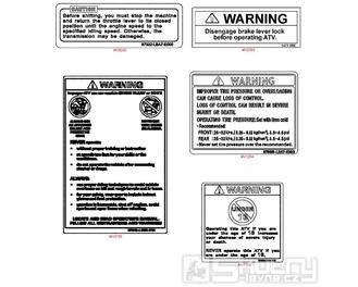 F24 Náleky a štítky - Kymco MXU 250 R LG50AE/AD