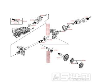 E08 Hřídel kardanu - Kymco MXU 500 IRS DX LOF LAA0ED