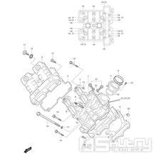 01v Hlava válce přední - Hyosung GT 650i RF