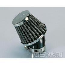 Metalový vzduchový filtr Polini - Ø 38 mm, velký, 45°