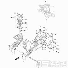 02 Skříň klikové hřídele - Hyosung SF 50 B Racing