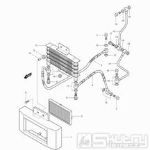 03 Olejový chladič - Hyosung GV 125 Aquila