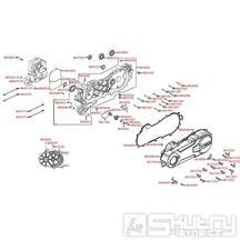 E01 Kliková skříň kompletní / kryt variátoru - Kymco Agility 50 City 4T