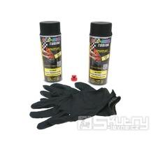Sprej Sprayplast Dupli-Color v černém matném provedení 2x400ml s rukavicemi