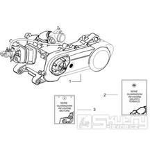 1.02 Motor, těsnění motoru - Gilera Runner 50 PureJet SC 2006 (ZAPC46200)