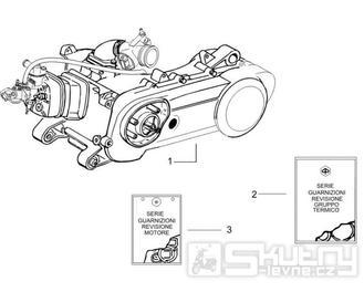 1.02 Motor, těsnění motoru - Gilera Runner 50 PureJet 2005-2006 UK (ZAPC46200)