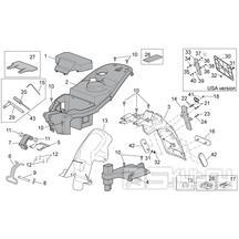 28.13 Plast pod sedačkou, zadní blatník - Scarabeo 100 4T E3 2006-2009 (ZD4VAA..., ZD4VAC...)