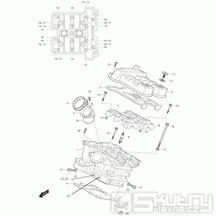 01b Hlava válce zadní - Hyosung GT 650i N (Naked)