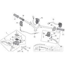 28.14 Brzdové páčky, lanka, přepínače - Scarabeo 50 4T 4V E2 2009 (ZD4TGE00)