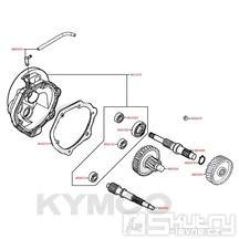 E09 Převodové ústrojí - Kymco DJ 125 S KN25GA