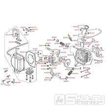 E02 Hlava válce a kryt ventilů - Kymco Like 50 4T KG10AA