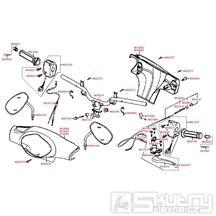 F03 Gripy / zrcátka / řídítka / kapotáž řídítek - Kymco People 50