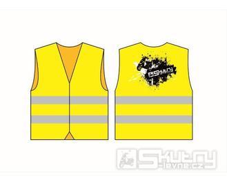 Reflexní vesta žlutá s potiskem Skútry-Levně - XXL