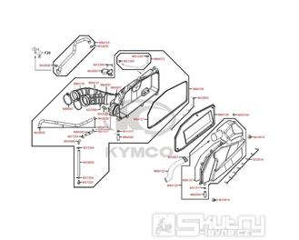 F13 Vzduchový filtr - Kymco MyRoad 700i ABS SAADAB