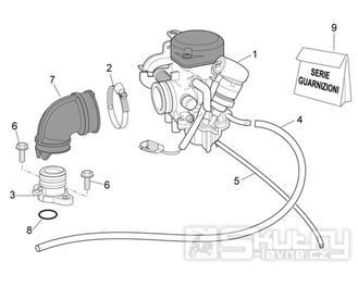 29.18 Karburátor - Scarabeo 100 4T E3 2006-2009 (ZD4VAA..., ZD4VAC...)