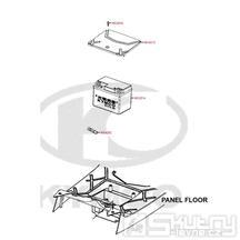 F11 Baterie / Kryt baterie - Kymco DJ 125 S KN25GA