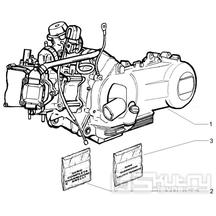 """1.02 Motor, těsnění motoru - Gilera Runner 125 """"SC"""" VX 4T 2006-2007 (ZAPM46100)"""