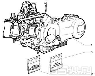 """1.02 Motor, těsnění motoru - Gilera Runner 125 """"SC"""" VX 4T 2006 (ZAPM46300)"""