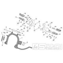 28.02 Hlavní stojan, stupačky spolujezdce - Scarabeo 100 4T E3 2006-2009 (ZD4VAA..., ZD4VAC...)