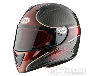 Přilba Bell M4R Carbon Indy - barva červená, velikost XS