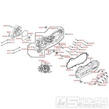 E01 Kliková skříň kompletní / kryt variátoru - Kymco People S 50