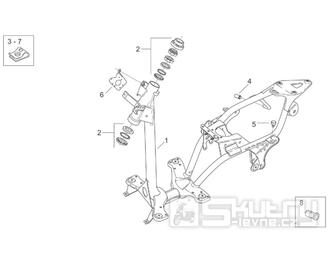 28.01 Rám - Scarabeo 100 2T (motor Minarelli) 2000 - ZD4REA...