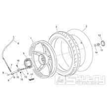 28.29 Zadní kolo, zadní bubnová brzda - Scarabeo 50 2T (motor Minarelli) 1998 - ZD4PF00/1/2/3, ZD4PFA/B/C/D/E