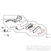 F13 Vzduchový filtr / Airbox - Kymco Agility 50 Carry 4T KG10DA