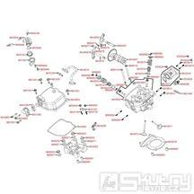 E02 Hlava válce / Ventily - Kymco Maxxer 300