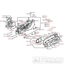 E01 Kliková skříň a kryt variátoru - Kymco NEWSento 50i SE10BC