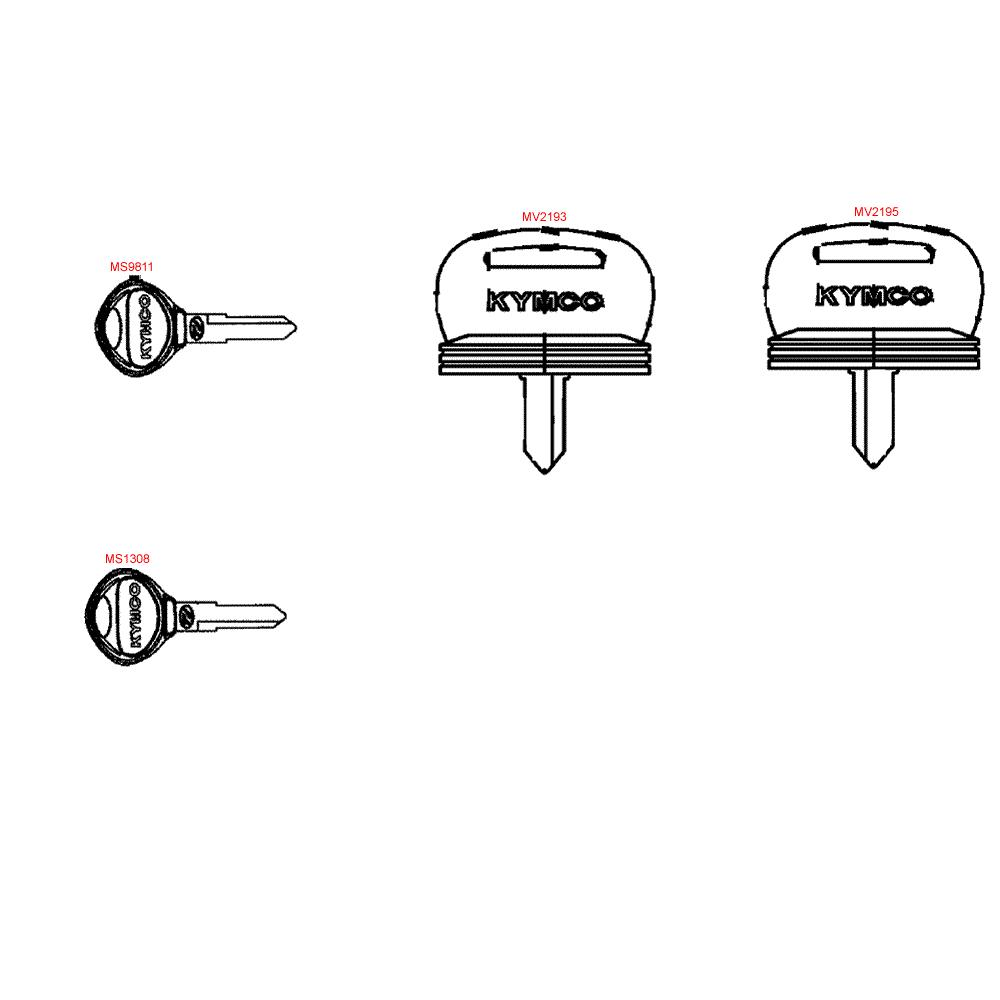 F29 Polotovary klíčů - Kymco MXU 500 IRS DX LAA0DD