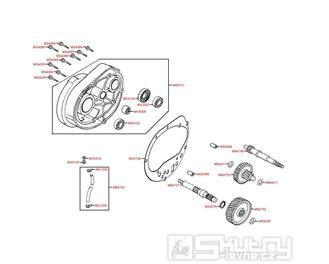 E05 Převodovka a kryt převodů - Kymco Grand Dink 125i SP25AA