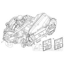 29.20 Motor, těstnění motoru - Scarabeo 50 4T 4V E2 2010-2012 (ZD4TGE00)