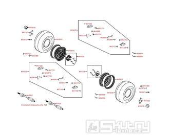 F08 Zadní kolo, brzdič a hnací hřídel - Kymco MXU 500 IRS DX LOF LAA0ED
