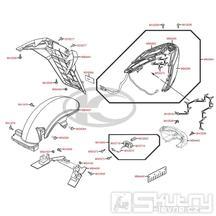 F18 Zadní světlo, blatník a zástěrka - Kymco MyRoad 700i ABS SAADAB