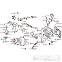 E02 Hlava válce / Ventily - Kymco Yager GT125 E3 [SH25EA]