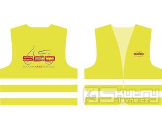 Reflexní vesta žlutá s potiskem Scooter Club Olomouc