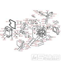 E02 Hlava válce a víko ventilů - Kymco People GT 125i