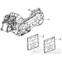 1.02 Motor, těsnění motoru - Gilera Runner 125 ST 4T LC 2008-2012 (ZAPM46301)