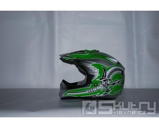 Přilba YOHE 613 - barva zelená, velikost S
