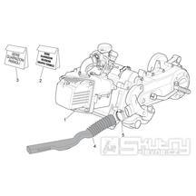29.21 Motor, těstnění motoru - Scarabeo 100 4T E3 2010-2012 (ZD4VAA00..., ZD4VAC00...)