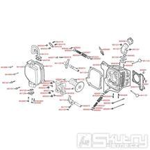 E02 Hlava válce / ventily - Kymco Agility 125