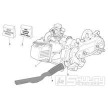 29.21 Motor, těsnění motoru - Scarabeo 100 4T E3 2006-2009 (ZD4VAA..., ZD4VAC...)