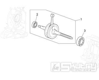 29.31 Kliková hřídel - Scarabeo 100 4T E3 NET 2009 (ZD4VAC..., ZD4VAA...)