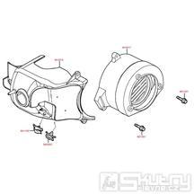 E01 Kryt válce a ventilátoru - Kymco - Maxxer 50