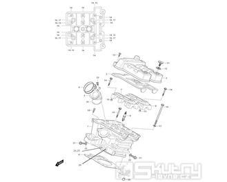 01h Hlava válce zadní - Hyosung GT 650i RF