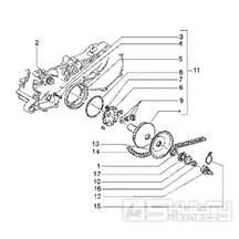 T9 Variátor, řemen variátoru - Gilera Runner 180 FXR DT 2T LC (ZAPM0800...)
